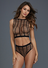 Caged Style Top Set - Black
