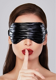 Adore Butter Soft Ruched Faux Leather Mask - Black - OS
