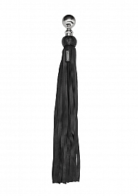 Heavy Metal Ball Flogger Softy Leather - Black