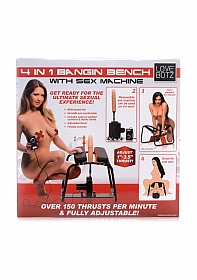 4-in-1 Bangin Bench w/ Sex Machine - Black